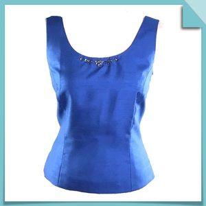 Tahari Arthur Levine Luxe Sleeveless Top Size 8